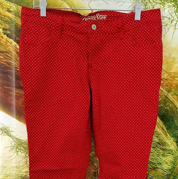 Denim - Red Polka Dot Jeans